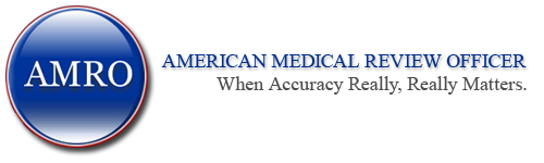 American Medical Review Officer Sticky Logo Retina
